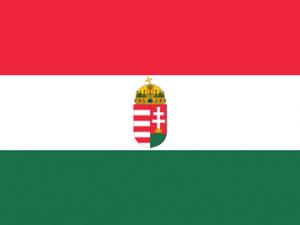 Bandera Hungría con escudo