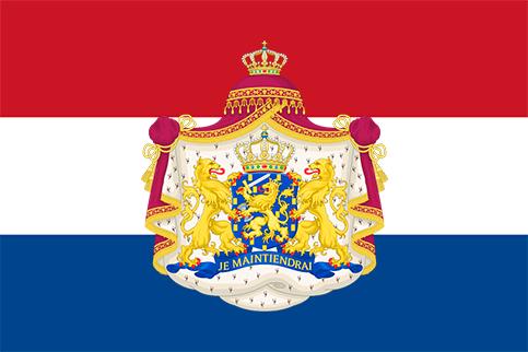 Bandera Paises Bajos con escudo