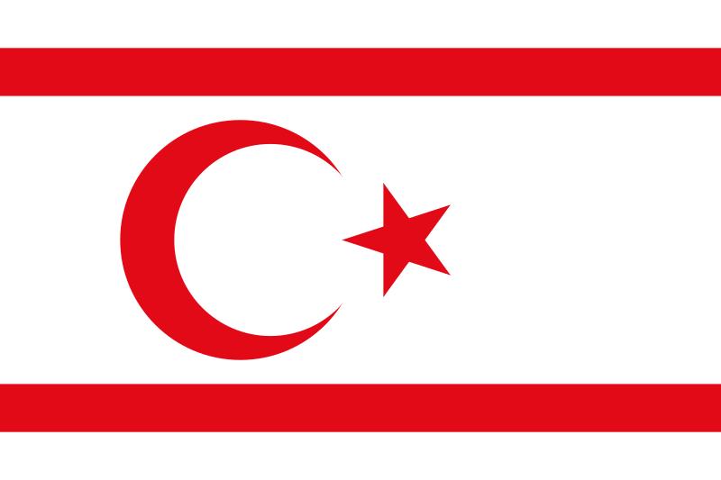 Bandera República Turca del Norte de Chipre