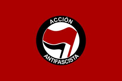 Bandera Acción antifascista España
