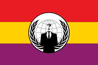 Bandera Anonymous Republicana España