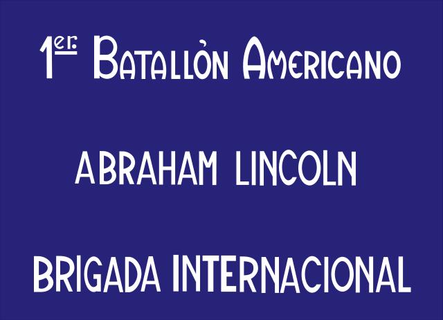 Bandera Batallón Abraham Lincoln
