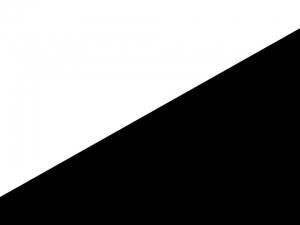 Bandera Blanco sobre negro