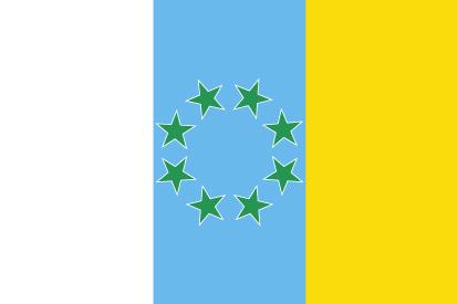 Bandera Canarias 8 estrellas