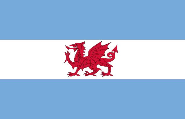 Bandera Colonización galesa en Argentina