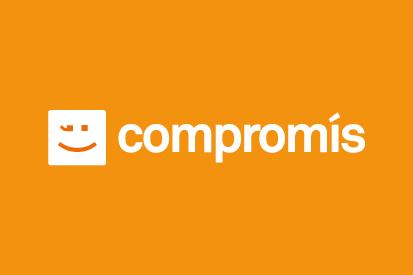 Bandera Compromis naranja