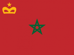 Bandera Enseña Civil Marruecos