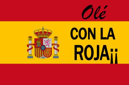 Bandera España con la roja