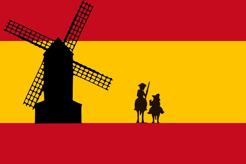 Bandera España Don Quijote