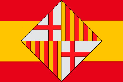 Bandera España escudo Barcelona