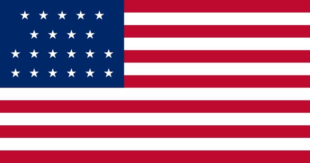Bandera Estados Unidos (1819 - 1820)