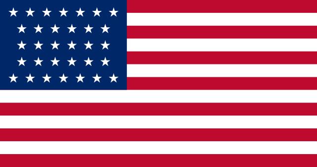 Bandera Estados Unidos (1858 - 1859)