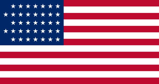 Bandera Estados Unidos (1867 - 1877)