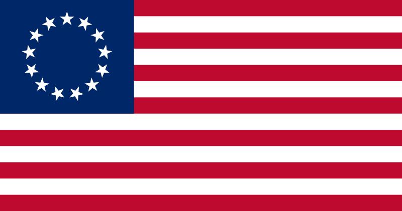 Bandera Estados Unidos Betsy Ross (1777 - 1795)