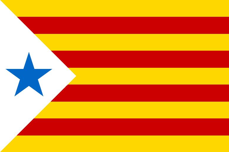 Bandera Estelada con estrella azul (Usada en algunas manifestaciones estudiantiles de los años 1960)