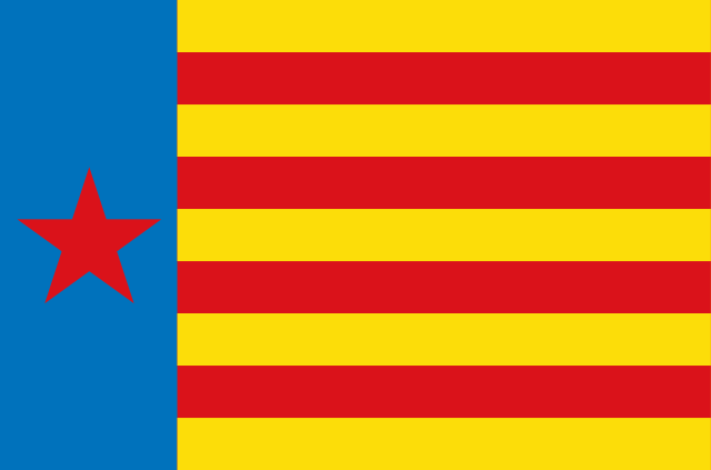 Bandera Estrelada de Esquerra Valenciana Pendón