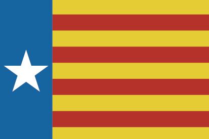 Bandera Estrelada valencianista horizontal
