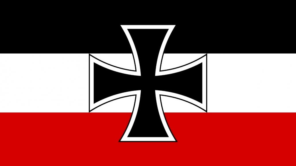 Bandera Imperio alemán y cruz de hierro