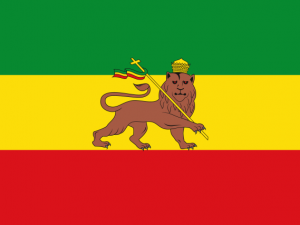 Bandera Imperio etíope (abisinia)