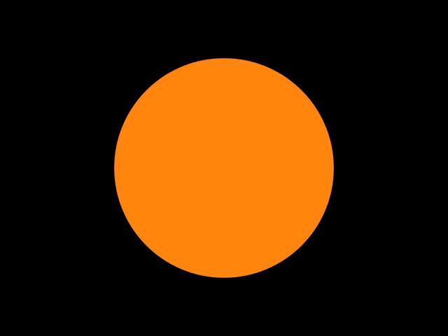 Bandera negra con círculo naranja