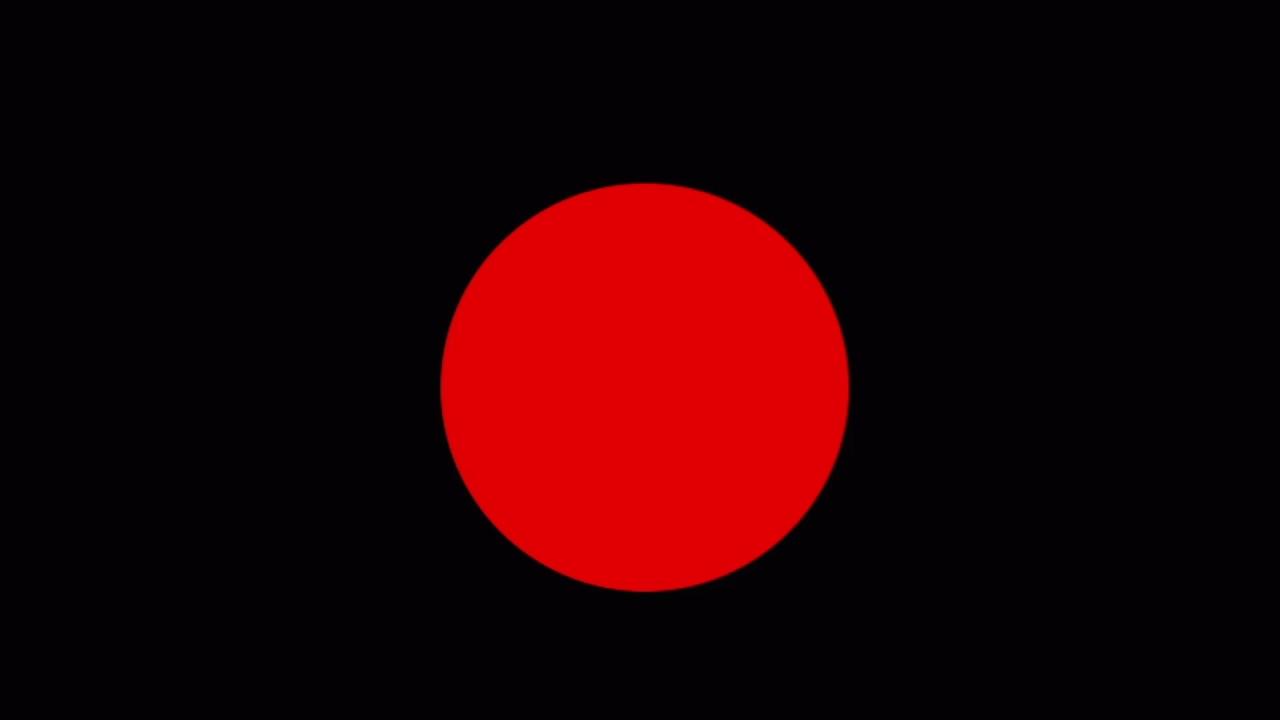 Bandera negra con círculo rojo