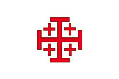 Bandera Orden del Santo Sepulcro de Jerusalén