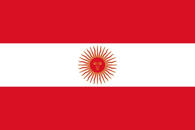 Bandera Perú 1822 -1825