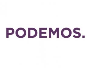 Bandera Podemos blanca