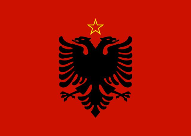 Bandera República Socialista Popular de Albania 1946-1992
