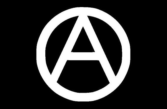 Bandera Símbolo Anarquista
