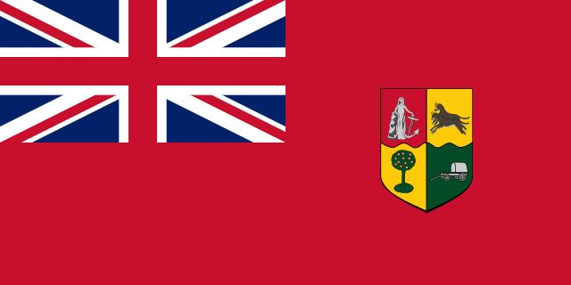 Bandera Sudáfrica bandera roja
