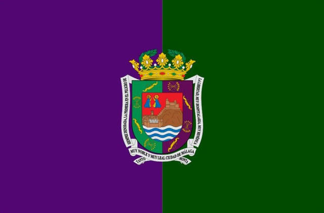 Bandera Málaga con Escudo