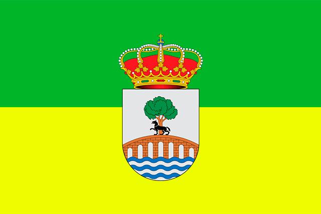 Bandera Valderredible con escudo