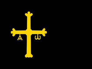 Bandera Asturias fondo negro