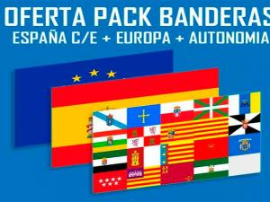 Banderas Pack 2 Italia - Unión Europea
